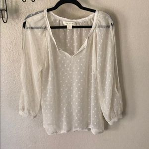 Staring at stars BOHO mesh open sleeve blouse XS